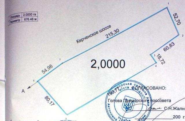 пгт Приморский, ул Керченская, участок 2 га, коммерция, продажа.