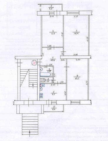 пгт Приморский, ул Просвещения, 3 ком. квартира, 69,5 кв. м
