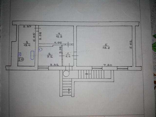 пгт Орджоникидзе, ул Нахимова, 1 ком. квартира, 83 кв. м, продажа.