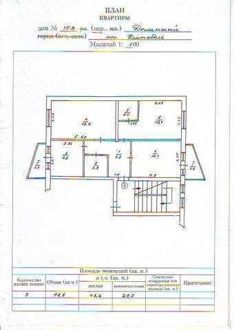 пгт Коктебель, пер Долинный, 3 ком. квартира, 77,5 кв. м