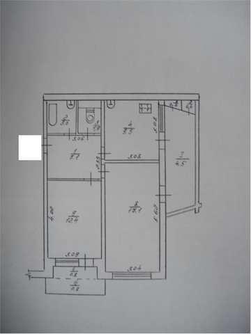 пгт Щебетовка, ул Мира, 2 ком. квартира 57.9 кв. м