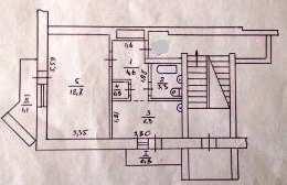 пгт Коктебель, пер Долинный, 1 ком квартира, 37 кв м