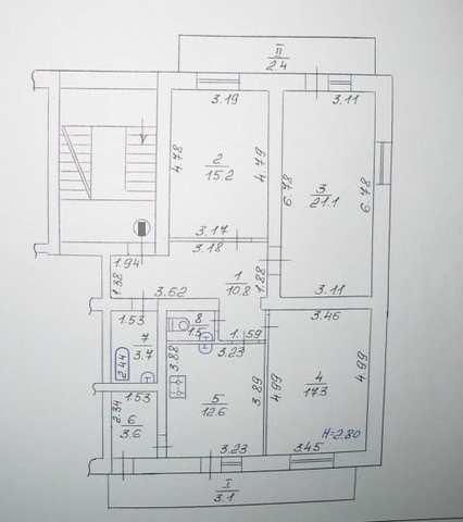 г Феодосия, ул Дружбы, 3 ком квартира, 91,3 кв м