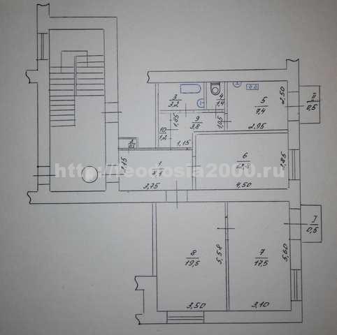 г. Феодосия, Цветочная ул, 3-комнатная квартира, 76 кв м, Продажа