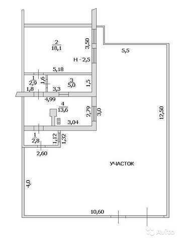 пос. Ближнее, Парковая ул, 2-комнатная квартира, 42 кв м, Продажа