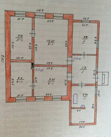 пгт Приморский, ул. Бусина, дом 74 кв.м., участок 12,7 сотки.