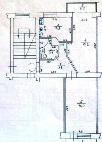пгт Приморский, ул. Железнодорожная, 2 ком. квартира, 44 кв.м.