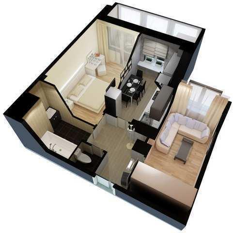 г. Феодосия, Симферопольское шоссе, 1-комнатная квартира в новостройке, 41 кв м, Продажа