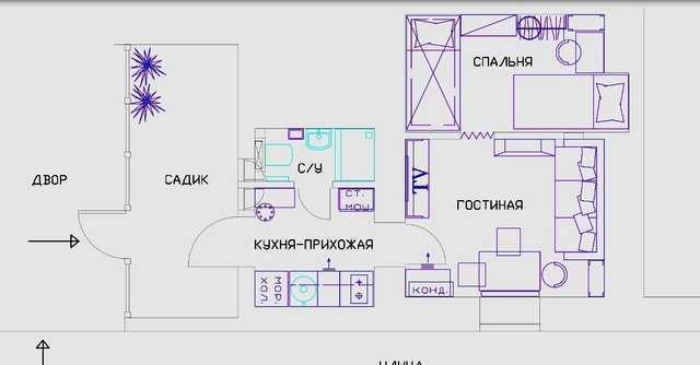 г. Феодосия ул. Федько  2-х ком., 25 кв. м.