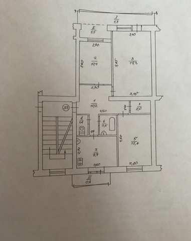 г Феодосия, ул Гарнаева, 3-х ком квартира 72.5 кв м