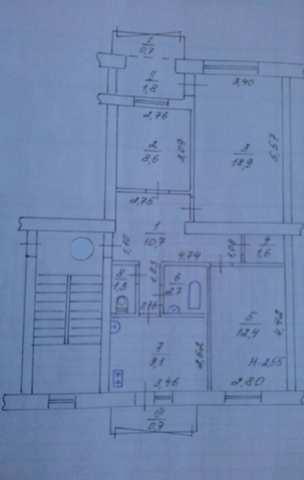 г. Феодосия, Челнокова ул, 3-комнатная квартира, 68 кв м, Продажа