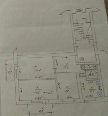 г Феодосия, ул Федько, 3-х ком квартира, 52 кв м, продажа