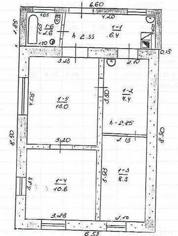 г Феодосия, ул Нахимова, дом 48,3 кв м, участок 1,5 сотки, продажа.